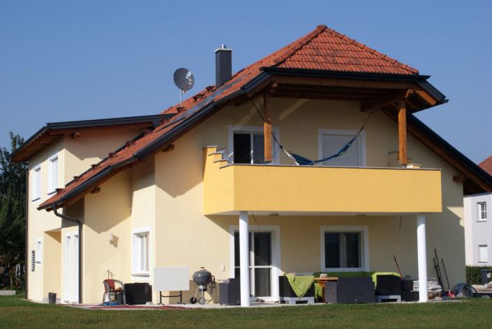 Einfamilienhaus Dachkonstruktion