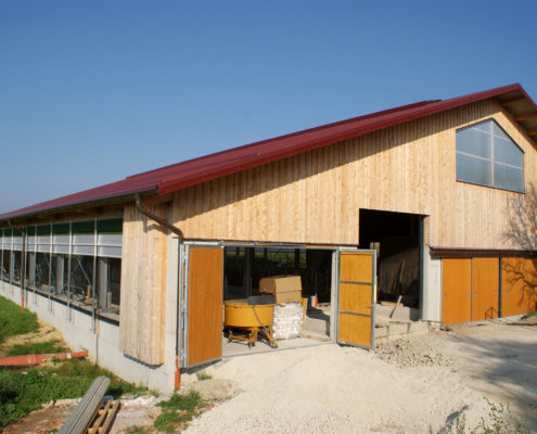 Rinderstall in Seitenstetten