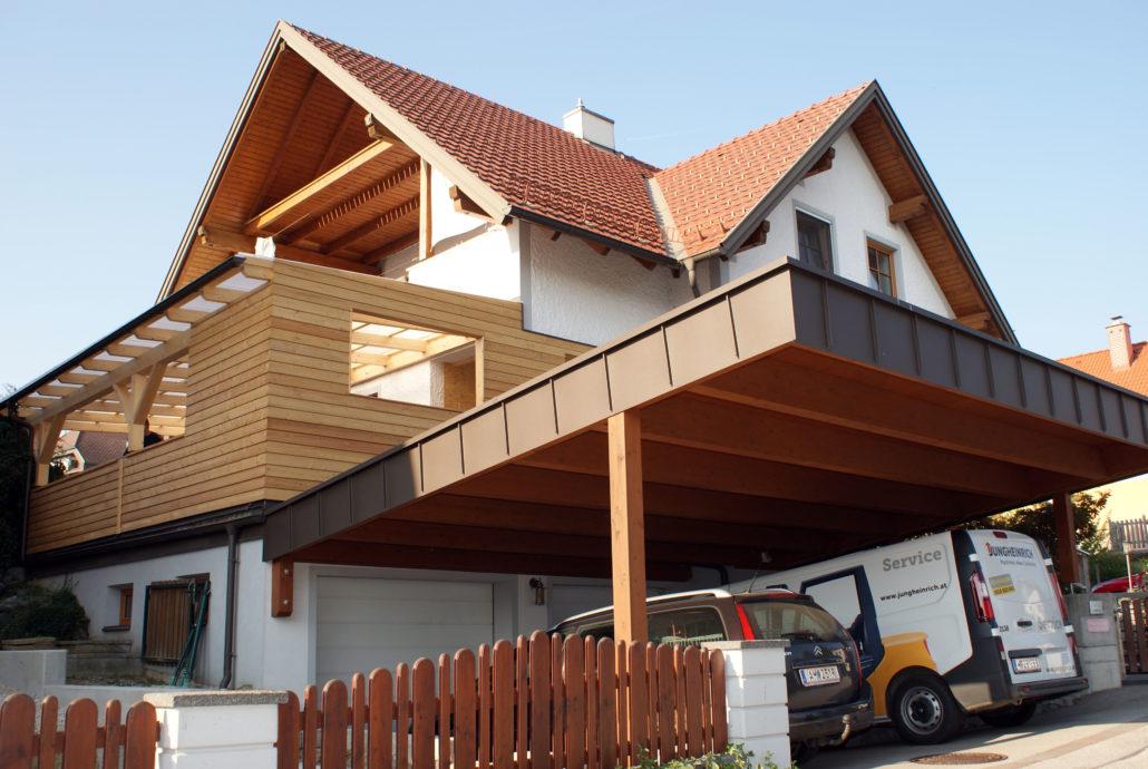 Carport mit Terrasse